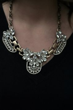 Silver Statement Necklace #thegoldengirlblog
