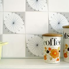 'Tile Tattoo' Tile Stickers: Shanklin Grey - decorative accessories