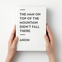 the man on top of the mountain