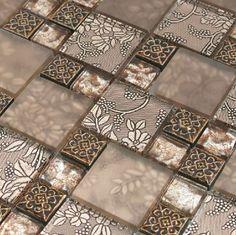 Resin mosaic tile, glass stone blend resin mosaic tiles bathroom RNMT008 - modern - bathroom tile - other metro - My Building Shop