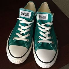 Green low top converse. Womens size 10! Green low top converse. Womens size 10, men's size 8. Only worn 1 time. Excellent condition!! Converse Shoes Sneakers