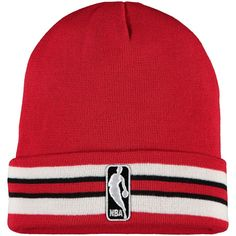 88e3fd28fa647d Chicago Bulls Mitchell & Ness League Team Stripe Cuffed Knit Hat – Red,  Your Price