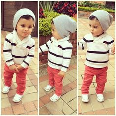 How Adorable! Not crazy about the skinny jeans, but still cute. #KidsFashionToddler