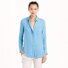 Classic silk blouse : tops & blouses | J.Crew