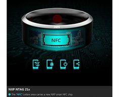 Inel Smart NFC  Filtreaza mesajele primite pe smartphone; utilizatorii au controlul asupra tipurilor de actualizări care sunt furnizate de inel; functie de acceptare si trimitere apeluri; trimitere mesaje; control smartphone de la distanta; functie de schimb de informații; conectare cu mai multe dispozitive cu functie NFC; acest inel este compatibil cu smartphone-urile Android și Windows; rezistent la apă și praf;