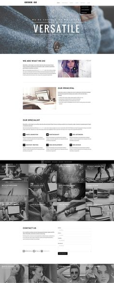 Minimal and clean onepage website layout with black  white - #minimalist #simple #onepage #singlepage #creative #inspiration