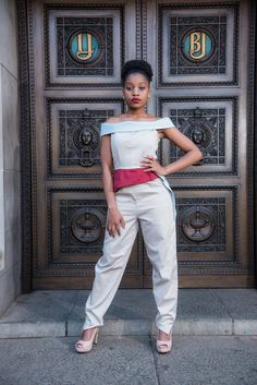 The Two-Toned Jumpsuit of the Multifaceted Range by @Up_phelele  📸 by Fertographer.com   #Up_phelele #Fashion #FashionShoot #Photoshoot #FashionPhotography #Women #LadiesWear Fashion Shoot, Two By Two, Fashion Photography, Capri Pants, Women Wear, Jumpsuit, Range, Photoshoot, Overalls