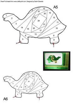 Tortoise Iris Folding Pattern