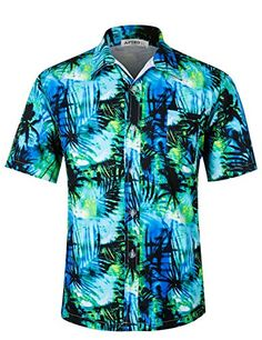 3ee479322 APTRO Men's Hawaiian Shirt Short Sleeve Summer Beach Shirt at Amazon Men's  Clothing store: