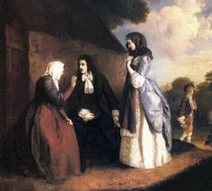 """Károly Brocky, """"Lucy Ashton and Ravenswood Visiting Blind Alice"""" (1843).jpg"""
