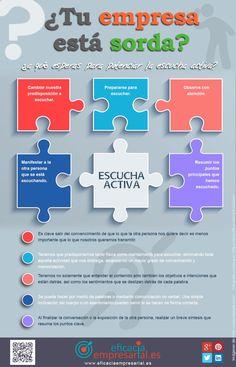 Escucha activa: ¿tu empresa está sorda? #infografia #infographic #marketing
