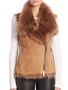 Burberry - Cedarville Shearling Vest