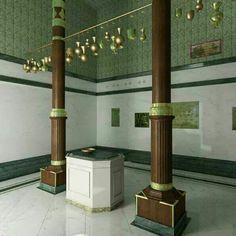 Inside of the Ka'aba Masjid-Al-Haram Makkah. Muslim Images, Islamic Images, Islamic Qoutes, Islamic Pictures, Islamic Phrases, Islamic Dua, Mecca Madinah, Mecca Masjid, Masjid Haram