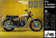 YAMAHA Brochure DS7 250 Street 1972 White & Gold Sales Catalog REPRO   eBay