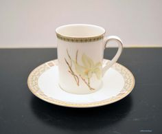 Vintage Royal Doulton Made in England 'White Nile' TC1122 English Porcelain Small Coffee/Demitasse/ Espresso Cup and Saucer. Made in 1978 by LittlemixAntique on Etsy