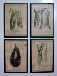 Vegetables Wall Decor Plaque Eggplant Beans Peas Asparagas Kitchen Sign Picture Ozarkmountainhomestead