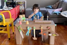 5 cool things to make at home with cardboard - Petit & Small