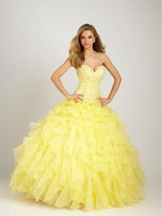 Perfect dress for big ball, but I prefer it in red color.   I think this dress would be also good choice for ballroom dance.