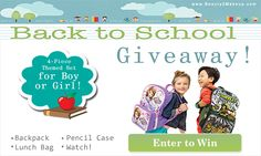 I just entered this great Avon Giveaway! You can too! Enter to win a Back to School 4-Piece themed set. Choose from Sofia the First or Teenage Mutant Ninja Turtles.  Click image for details & to enter. Ends July 30, 2014.