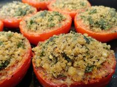 Quinoa Stuffed Red Bell Peppers with Tarragon - Ayurvedic Diet & Recipes Veggie Recipes, Diet Recipes, Cooking Recipes, Healthy Recipes, Ayurvedic Diet, Ayurvedic Recipes, Summer Entrees, Quinoa Stuffed Peppers, The Fresh