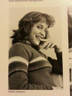 Gillian Anderson's year book photo