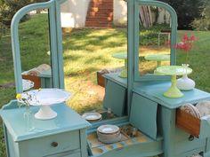 vanity dessert table - Southern Vintage wedding rental