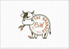 Logo Sold by LogoMood Melanie D: Modern and unique cow logo design featuring a line drawn cow design, with the body of the cow designed to look like the cow has been branded with the logo text. Cow Logo, Farm Logo, Fitness Design, Fitness Logo, Logo Restaurant, Chalk Art, Logo Inspiration, Line Drawing, Logo Branding