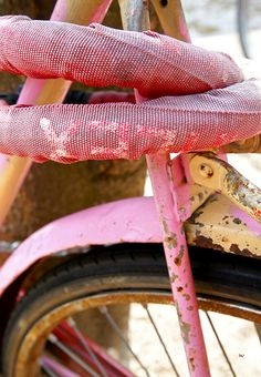 Pink bike by Wilma de Groot