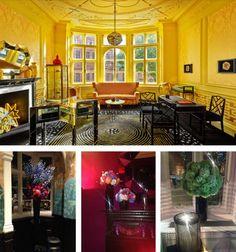 Love the yellow salon in Solange Azagury-Partridge's Mayfair store