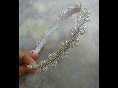 Coroa de manta de stráss bordada com pérolas, - YouTube