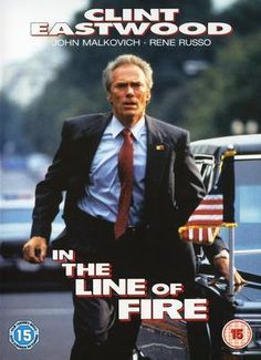 in the line of fire .Another great Clint Eastwood movie. Secret Service agent Frank Horrigan couldn't save Kennedy, but he's determined not to let a clever assassin take out this president. Clint Eastwood, Eastwood Movies, See Movie, Film Movie, Martin Scorsese, Bon Film, Fritz Lang, Movies Worth Watching, Drame