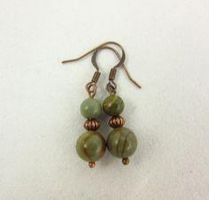 Jasper Earrings - Dangle Earrings - Handmade Earrings - Copper Earrings - Rustic Jewelry - Woodland Jewelry - Jasper Jewelry - Gift for Her by PMOriginals on Etsy