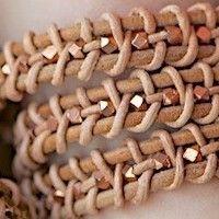 DIY Leather Wrap Bracelet Tutorial