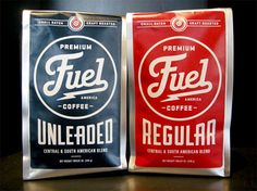 Fuel-coffee. Love the old-school look. Great expression of concept.