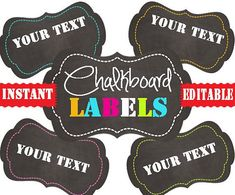 Chalkboard Labels | Chalkboard labels and Chalkboards