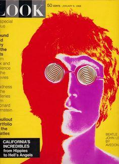 1968 John Lennon on Cover LOOK MAGAZINE - The Beatles