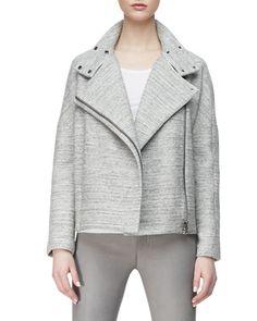 J Brand Ready to Wear Pallenberg Knit Moto Jacket,