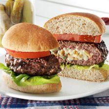 Bleu Cheese And Walnut Stuffed Burger - Recipe