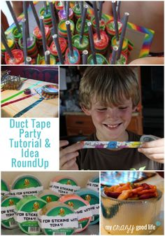 Duct Tape Party RoundUp - The Best Of The Best! - My Crazy Good Life  If you like Duct Tape please follow our boards!