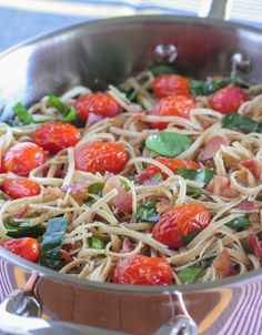 Parmesan BLT Whole Wheat Pasta, quick and simple dinner idea! - Picky Palate