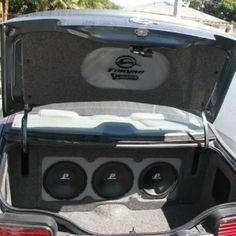 1968 chevelle trunk subwoofer box Car Audio Custom