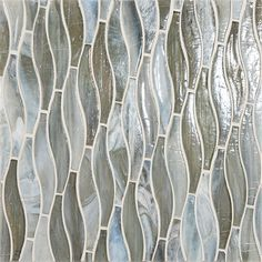 Vihara Collection - made with post-consumer glass, each tile is handmade of twisted tones, textures and hues that come together as one singularly beautiful mosaic. Interior Walls, Interior Ideas, Diy Kitchen Cupboards, Glass Tile Bathroom, Silk Material, Commercial Interiors, Kitchen Remodeling, Glass Vase, Mosaic