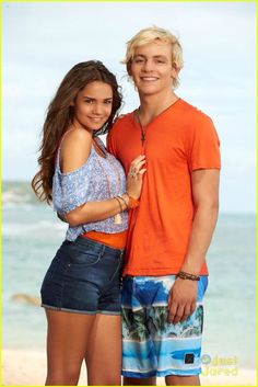 Maia Mitchell (McKenzie/Mack) and Ross Lynch (Brady) #TeenBeach2