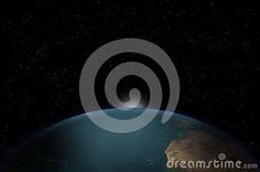 planet earth with stars