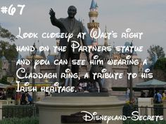 Ever looked closely at the Partners statue, a Disneyland staple? If you look ver… Ever looked closely at the Partners statue, a Disneyland staple? If you look very closely at Walt's hand coming from Frontierland, you can spot a ring… Continue Reading → Walt Disney, Disney Tips, Disney Fun, Disney Surprise, Disney Stuff, Disney Cruise, Punk Disney, Disney Magic, Disneyland World