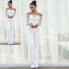 453416d878 Summer Jumpsuits Off Shoulder With Long Trousers Size XS  cm S  cm M
