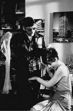"""Audrey Hepburn as Susy Hendrix and Alan Arkin as Roat in the movie """"Wait Until Dark"""""""