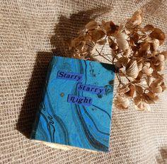 Handmade Book, Journal, Travel Journal, Handmade paper, Van Gogh, Mini, Miniature, Bookbinding, Scrapbook, Scrapbooking, Sketch book by Stampystamps on Etsy