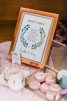 Unsere Papeterie für den Sweettable