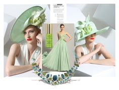 """Untitled #10"" by suzanedaric ❤ liked on Polyvore featuring Philip Treacy, Poppy Jewellery and Tata Harper"